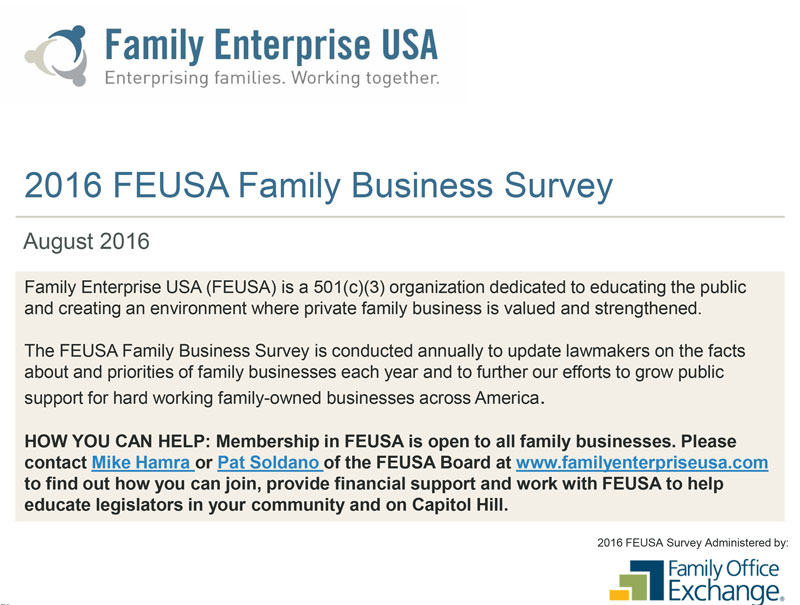 2016 FEUSA Family Business Survey