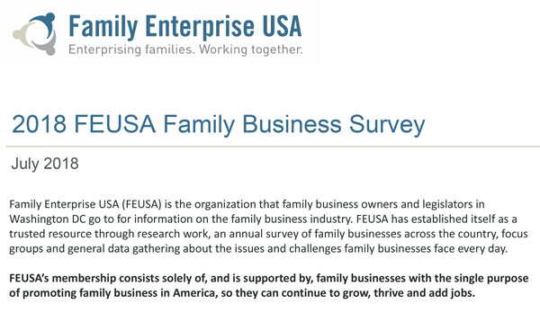2018 Family Businesses Survey Reveals Commitments, Challenges, & Concerns