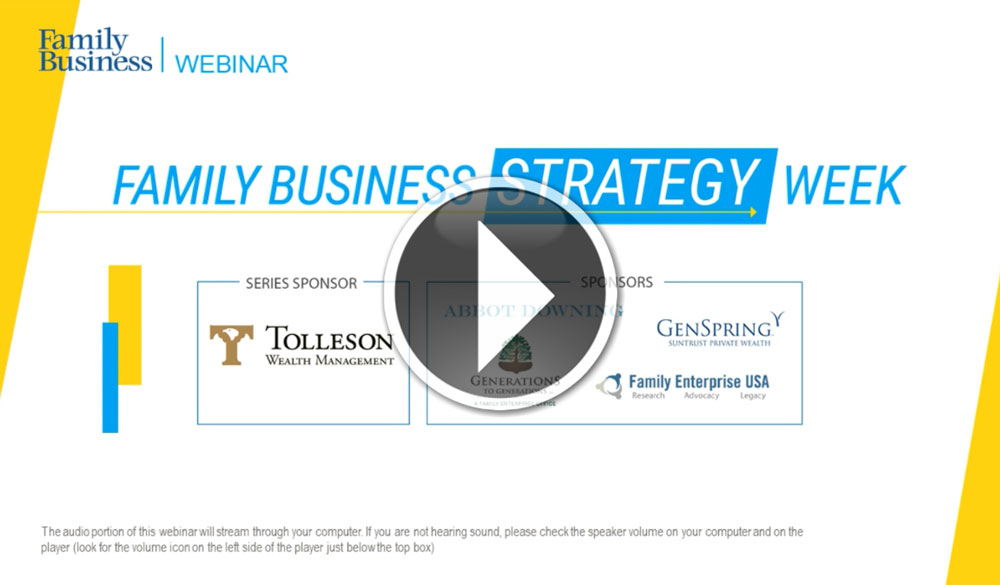 WATCH: The Future of Family Businesses: Social Distancing and New Business Models.