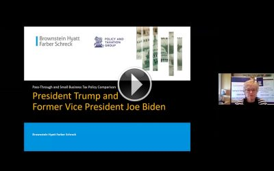 VIDEO: Pass Through and Small Business Legislation Under Trump or Biden