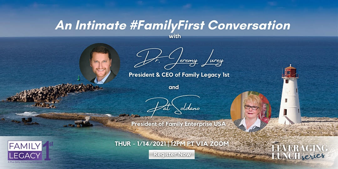 #FamilyFirst webcast with Pat Soldano