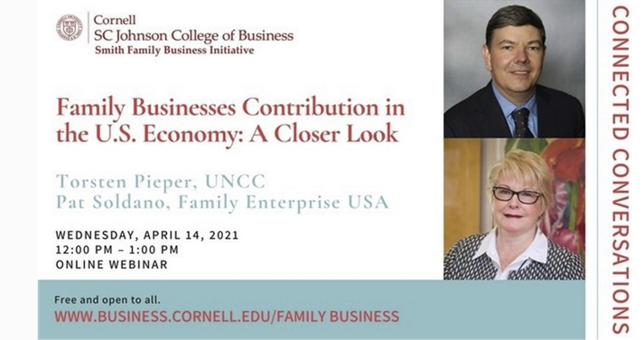 Connected Conversations – Family Businesses Contribution to the U.S. Economy: A Closer Look on April 14
